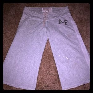 Abercrombie and Fitch grey sweats